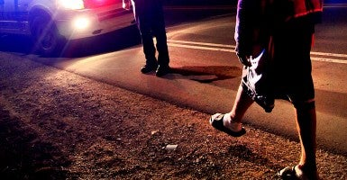 Sobriety test. (Photo: Jeffrey Smith/Creative Commons)