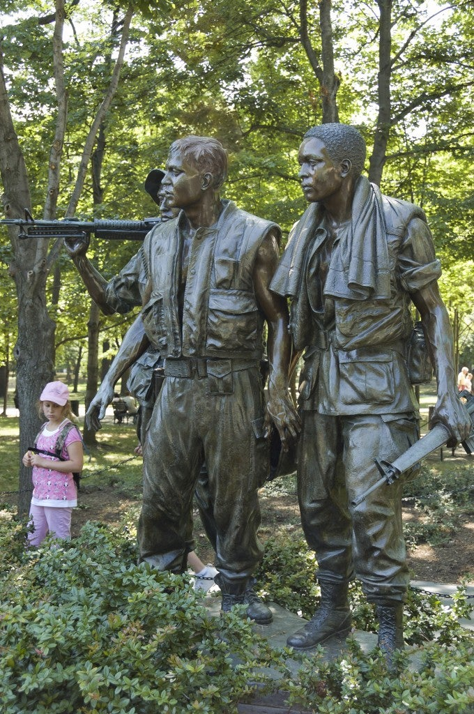 'The Three Servicemen' statue. (Photo: Getty Images)
