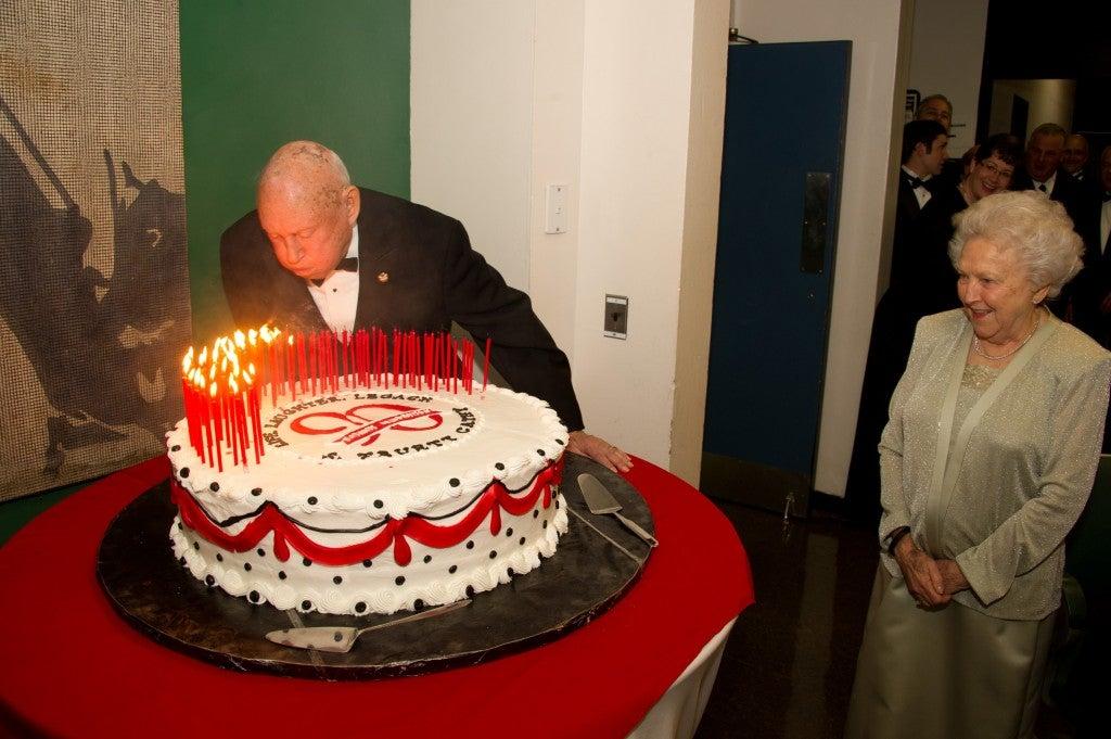 Truett celebrated his 90 birthday.