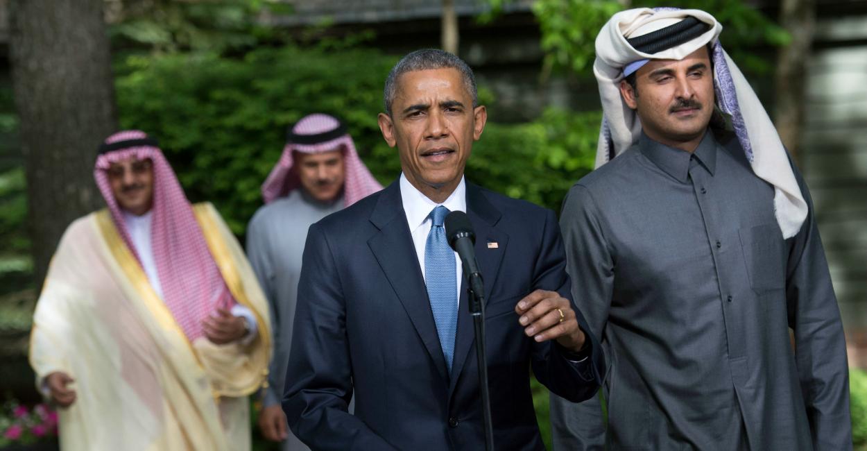Obama y líderes árabes
