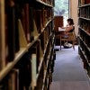 A Tulane student studies in the library. (Pho