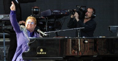 Elton John has spoken out against music piracy. (Photo: Grant Falvey/ZUMA Press/Newscom)