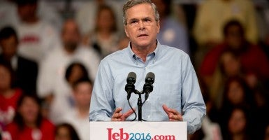 'We will lift our sights again': Jeb Bush announces at Miami Dade Community College. (Photo: Brian Cahn/ZUMA Press/Newscom)