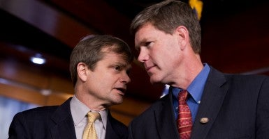 Reps. Mike Quigley, D-Ill., and Ron Kind, D-Wisc., who both voted for the trade bill. (Photo: Tom Williams/CQ Roll Call/Newscom)