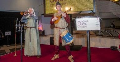 The British Library's Magna Carta celebration. (Photo: Nick Cunard/ZUMA Press/Newscom)