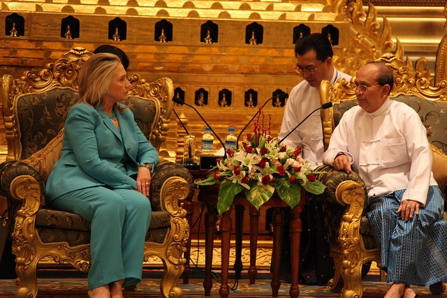 Hilary Clinton and Thein Sein
