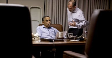 President Barack Obama with Ben Rhodes, Deputy National Security Advisor for Strategic Communication / Pete Souza