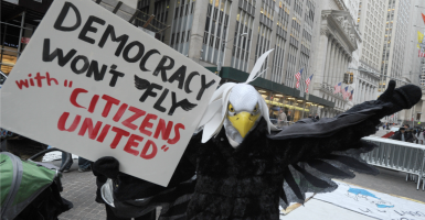 The First Amendment has been under attack in the last five years with the unfair, ill-informed assaults on the Citizens United decision. (Photo: Van Tine Dennis/ABACA/Newscom)
