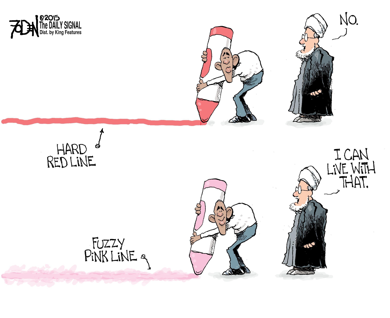 Cartoon Obama Dont Cross This Line Wiring Diagrams Transistor Time Relay Circuit Diagram Ledandlightcircuit S Red Rh Dailysignal Com Warrent