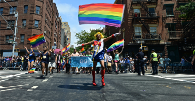 The New York pride parade, which happened just days after the Supreme Court decision. (Photo: Kike Calvo/ZUMA Press/Newscom)