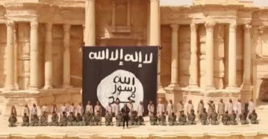 An example of ISIS' media outreach: A video released from ISIS  shows militants executing 25 captives (Syrian army soldiers) in the ruins of the main Roman amphitheater in the ancient city of Palmyra, Syria. (Photo: Balkis Press / ABACA/Newscom)