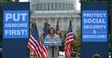 House minority leader Nancy Pelosi, D-Calif, doesn't seem to believe that putting seniors first includes spending their tax dollars wisely. (Photo: Kevin Dietsch/UPI/Newscom)