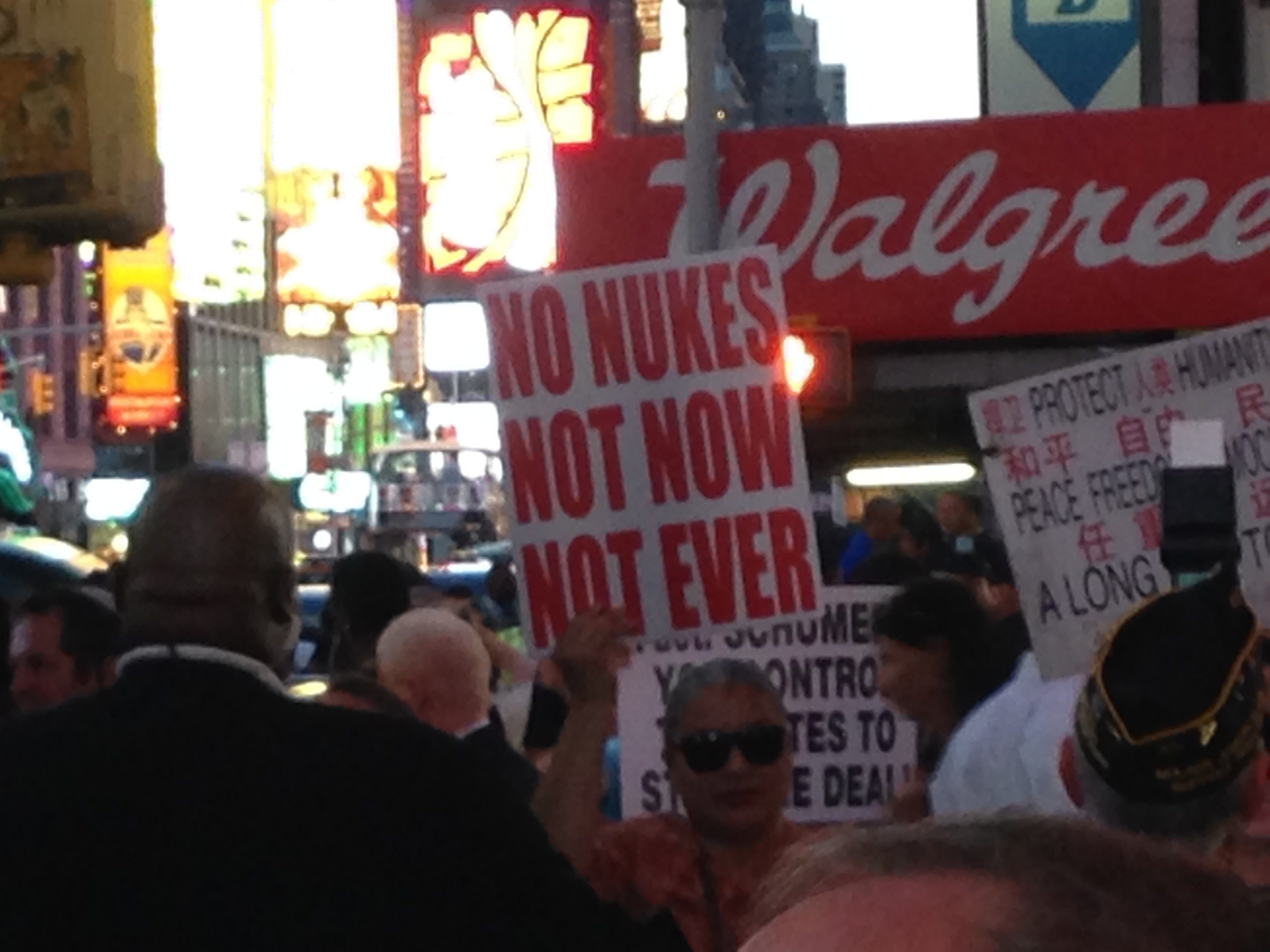 The Times Square rally. (Photo; Genevieve Wood/The Daily Signal)