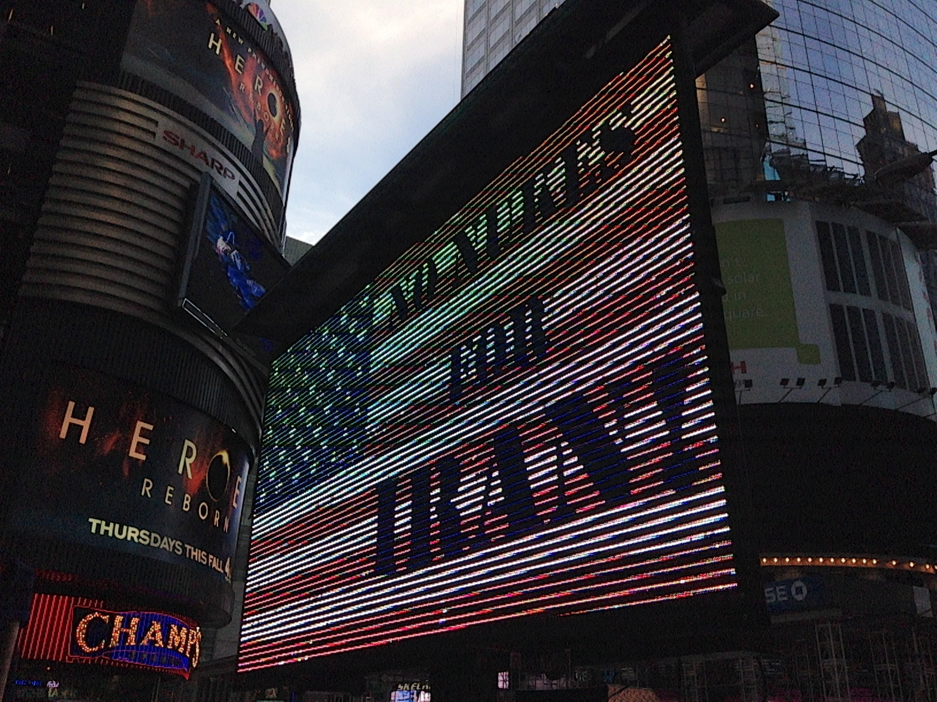 Another photo of Times Square during the Iran ally. (Photo: Genevieve Wood/The Daily Signal.)