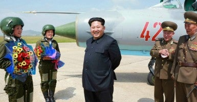 Kim Jong-Un, who is not gunning for a nuke deal like Iran's. (Photo: Rodong Sinmun/EPA/Newscom)