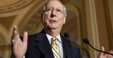 "Senate Majority Leader Mitch McConnell called Planned Parenthood a ""a scandal-plagued political lobbying giant."" (Photo: Michael Reynolds/EPA/Newscom)"