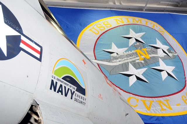 USS Nimitz participates in Great Green fleet demonstration.