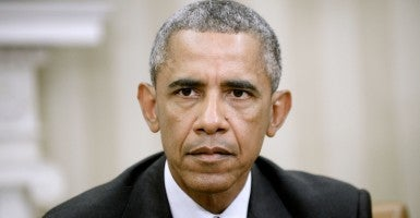 President Obama says this deal is the only way to prevent war. He's wrong. (Photo:  Olivier Douliery/CNP/AdMedia)
