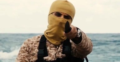 Earlier this year, ISIS released a video claiming to have killed 21 Egyptian Christians who were captured in Libya.  (Photo: News Pictures / Polaris/Newscom)