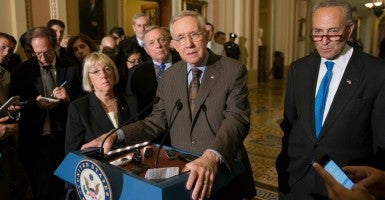 Senate Democrats have blocked Republicans from appropriating bills to fund a budget. (Photo: Michael Reynolds/EPA/Newscom)