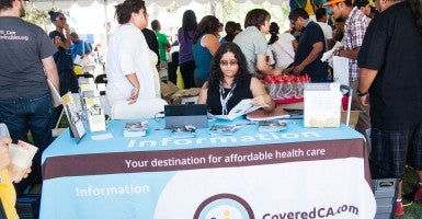 An Obamacare enrollment event in California. (Photo: Xizi Cecilia Hua)