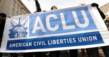 American Civil Liberties Union protest, Washington D.C. (Photo: Sam Simmonds/Polaris/Newscom)