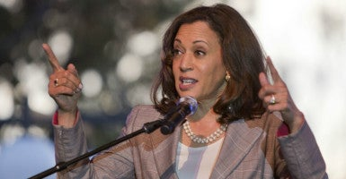 "California Attorney General Kamala Harris says her state's law requiring charities to disclose their donor list helps ""protect taxpayers against fraud."" (Photo: Javier Rojas/Zuma Press/Newscom)"