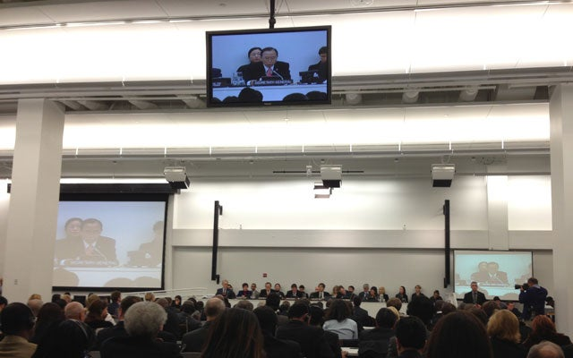 Arms Trade Treaty conference session (Photo by Ted Bromund)