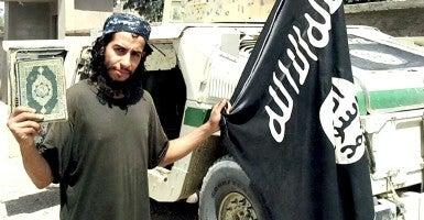 Raqua, Syria - Islamic State of Iraq and the Levant propaganda photo showing Abdelhamid Abaaoud, the 28-year-old Belgian citizen suspected by French authorities as being the ringleader of the Paris terror attacks. (Photo: Dabiq/ZUMA Press/Newscom)