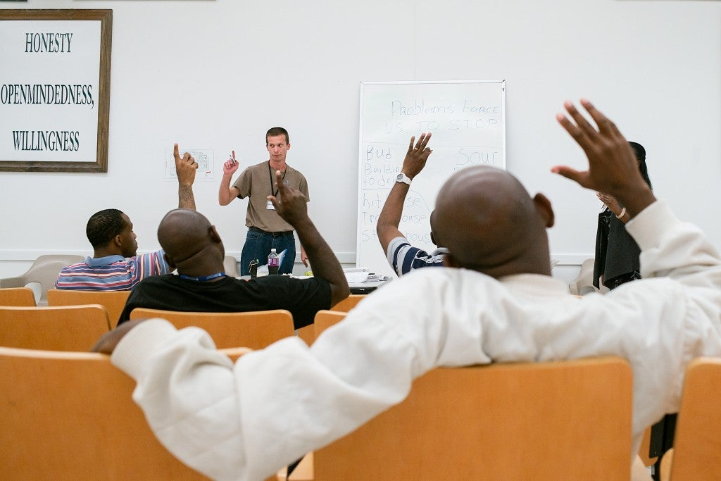 Cognitive-behavioral training classes at Alabama Therapeutic Education Facility prepare inmates for life after prison. (Photo: Bob Miller for The Daily Signal)
