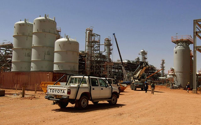 The gas field in Algeria where hostages have been held. (Photo: Kjetil Alsvik/AFP/Getty Images/Newscom)