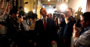 Justice Alito on Capitol Hill before his nomination hearing in 2005. (Photo: Chuck Kennedy/KRT/Newscom)