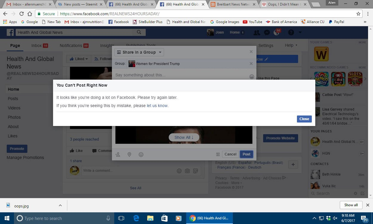 SlantRight 2 0: Facebook Censors His Conservative Posts, Retired
