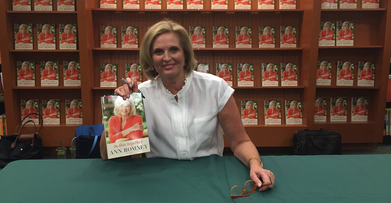 Ann Romney signs copies of her memoir in Arlington, Virginia on October 6, 2015. (Photo: Madaline Donnelly/The Daily Signal)