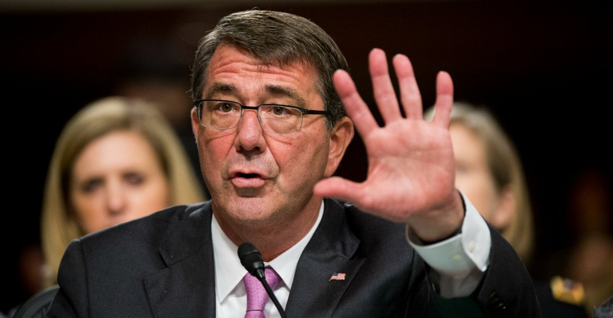 "Defense Secretary Ashton Carter testifies during a hearing on ""Counter-ISIL Strategy"" on Tuesday, July 7, 2015. (Photo: Bill Clark/CQ Roll Call/Newscom)"