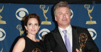 Tina Fey, left, and Alec Baldwin, right, will be partaking in a Facebook Live fundraiser for the American Civil Liberties Union. (Photo: Lisa O''Connor /Zuma Press/Newscom)