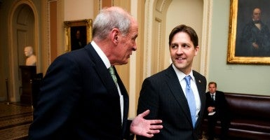 Sen. Ben Sasse, R-Neb., and Sen. Dan Coats, R-Ind. (Photo: Bill Clark/CQ Roll Call/Newscom)