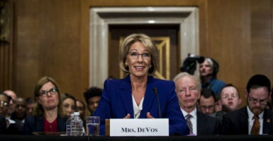 Betsy DeVos, President-elect Donald Trump's pick for education secretary, testifies before the Senate Committee on Health, Education, Labor and Pensions during her confirmation hearing. (Photo: Pete Marovich/UPI/Newscom)