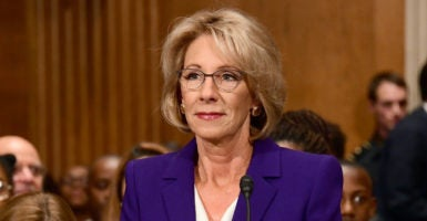 Education Secretary Betsy DeVos was confirmed by the Senate in a historic 51-50 vote on Tuesday, Feb. 7, 2017. (Photo: Ron Sachs /dpa/picture-alliance/Newscom)