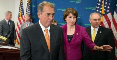 House leaders like Rep. Cathy McMorris Rodgers, R-Wash., the No. 4 member in the GOP leadership team, are defending the performance of Speaker John Boehner, R-Ohio. (Photo: Michael Reynolds/EPA/Newscom)