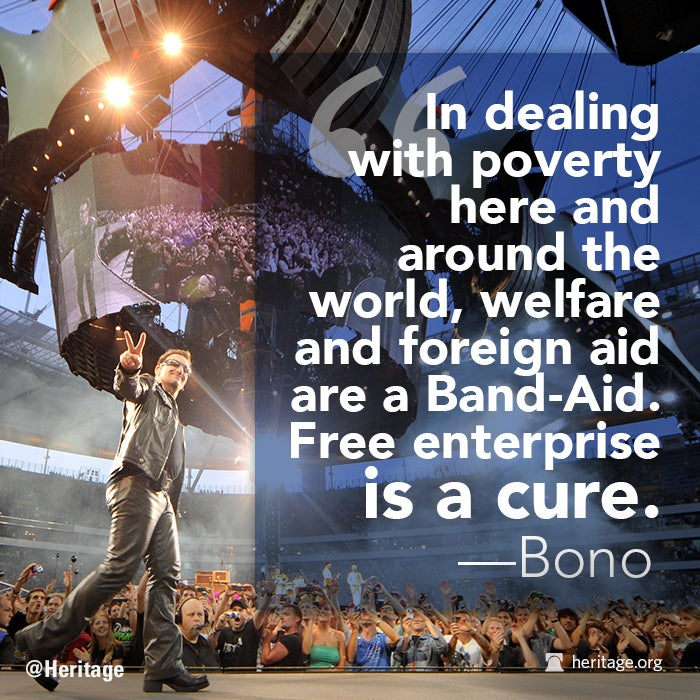 Bono Quote, free enterprise