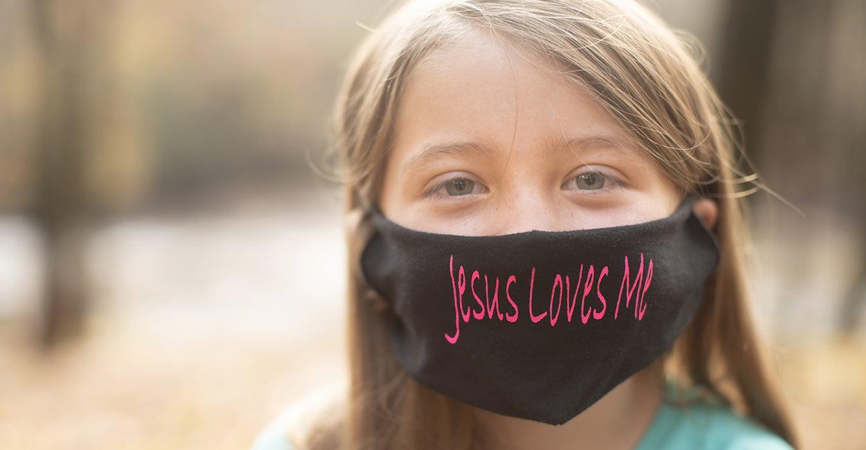 "Mom Files Lawsuit After Teacher Tells Third Grader She Can't Wear ""Jesus Loves Me"" Mask"