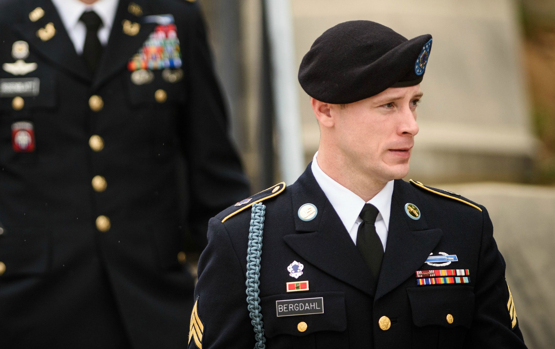 Sgt. Bowe Bergdahl leaves the Fort Bragg courtroom facility after a motions hearing on Tuesday, May 17, 2016. (Photo: Andrew Craft/ZUMA Press/Newscom)