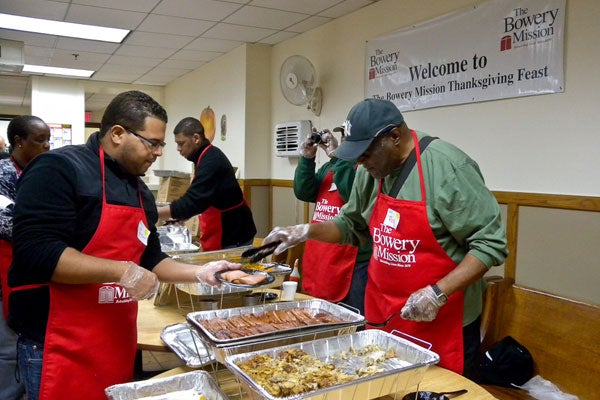 Thanksgiving at the Bowery Mission