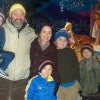 'People would be horrified....to find out they're funding other people's abortions': Barth and Abbie Bracy and their sons in January at the LaSalette Shrine in Sou