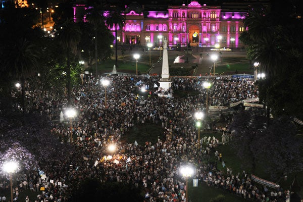 BuenosAires Argentina protest