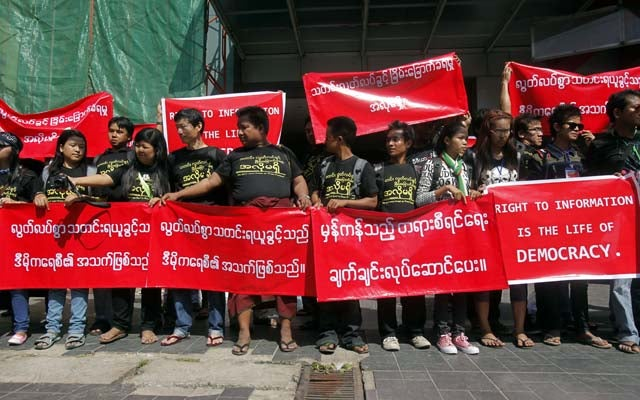 BurmaProtest140110 Southeast Asia and Its Press Freedom Woes