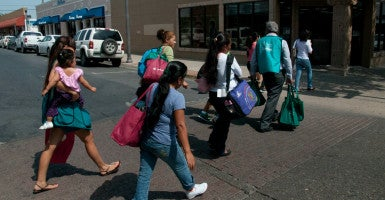 A new Obama administration program is supposed to allow Central American families to apply for refugee status before they try to enter the U.S. illegally. (Photo: Bob Witkowski/Polaris/Newscom)