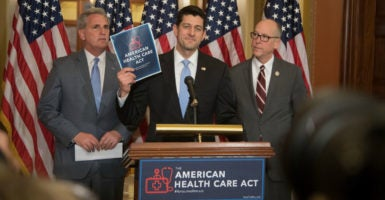 House Speaker Paul Ryan, pictured here last week, says congressional Republicans' plan to replace Obamacare will lower premiums and improve overall health care. (Photo: Jeff Malet Photography/Newscom)