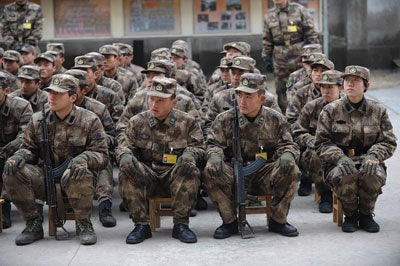 Chinese People's Liberation Army (PLA) recruits